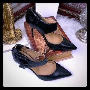 a.n.a fashion high heel shoes, black color.